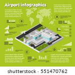 isometric airport  air travel... | Shutterstock .eps vector #551470762