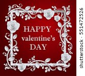 valentines day  paper art and...   Shutterstock .eps vector #551472526
