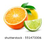 citrus composition. fruit with... | Shutterstock . vector #551473306