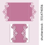 elegant gate fold card with... | Shutterstock .eps vector #551474056