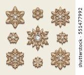 elegant jewelry pendants ... | Shutterstock .eps vector #551477992