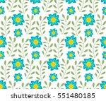 floral seamless pattern.... | Shutterstock .eps vector #551480185
