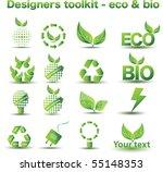 designers toolkit   eco   bio...   Shutterstock .eps vector #55148353