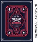 old whiskey label | Shutterstock .eps vector #551484778