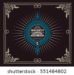 whiskey label with old... | Shutterstock .eps vector #551484802