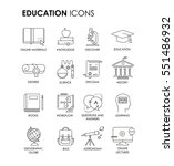simple set of education related ... | Shutterstock .eps vector #551486932