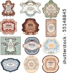 set of vintage  labels | Shutterstock .eps vector #55148845