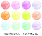 set of watercolor shapes.... | Shutterstock . vector #551495746