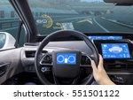 cockpit of vehicle  hud head up ... | Shutterstock . vector #551501122