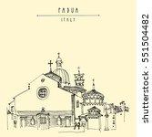 cathedral in padua  veneto ...   Shutterstock .eps vector #551504482