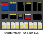 illustrated memory cards ... | Shutterstock . vector #551505166