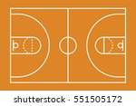 a basketball court illustration ... | Shutterstock . vector #551505172
