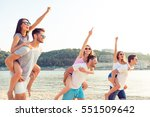 group of happy young people... | Shutterstock . vector #551509642