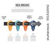 vector illustration of idea... | Shutterstock .eps vector #551510542