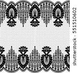 seamless lace pattern  flower... | Shutterstock .eps vector #551510602