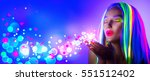 valentine's day girl on disco... | Shutterstock . vector #551512402