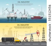 vector oil rig industry of...