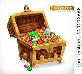 treasure chest. gems and gold... | Shutterstock .eps vector #551513668