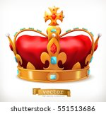 gold crown of the king. 3d... | Shutterstock .eps vector #551513686