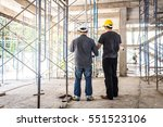 two business man construction... | Shutterstock . vector #551523106
