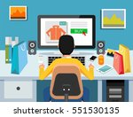 person buy on online commerce.... | Shutterstock .eps vector #551530135