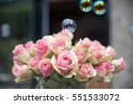 bouquets of roses flowers on a...   Shutterstock . vector #551533072