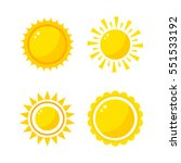 Sun Icons Collection Vector...