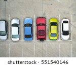empty parking lots  aerial view. | Shutterstock . vector #551540146