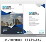 abstract vector modern flyers... | Shutterstock .eps vector #551541562
