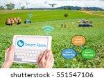 smart farming  hi tech...   Shutterstock . vector #551547106