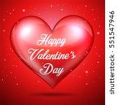 happy valentine's day red heart | Shutterstock . vector #551547946
