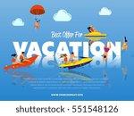 best offer for vacation banner. ... | Shutterstock .eps vector #551548126