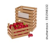 wooden box full of pomegranate... | Shutterstock .eps vector #551548132