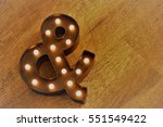 lighted and sign | Shutterstock . vector #551549422