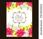 romantic invitation. wedding ...   Shutterstock .eps vector #551562022