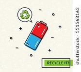 battery recycling vector... | Shutterstock .eps vector #551563162