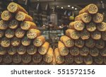 twin turkish baklava roll... | Shutterstock . vector #551572156