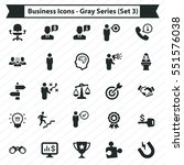 business icons   gray series ... | Shutterstock .eps vector #551576038