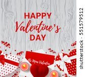 happy valentine's day greeting... | Shutterstock .eps vector #551579512