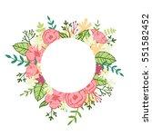 flower wreath. wedding... | Shutterstock .eps vector #551582452