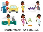 african man standing on the...   Shutterstock .eps vector #551582866