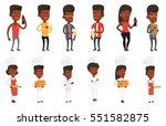 chief cooker in uniform holding ... | Shutterstock .eps vector #551582875