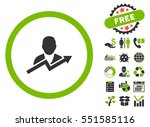 user trend pictograph with free ... | Shutterstock . vector #551585116