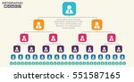 corporate organization chart... | Shutterstock .eps vector #551587165