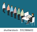 business men line up to apply... | Shutterstock .eps vector #551588602
