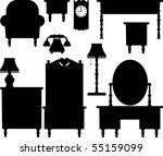 furniture | Shutterstock .eps vector #55159099