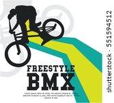 bmx event poster design | Shutterstock .eps vector #551594512