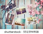 photo album in remembrance and... | Shutterstock . vector #551594908