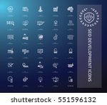 seo development icon set clean ... | Shutterstock .eps vector #551596132