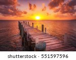 Dock During Caribbean Sunset ...